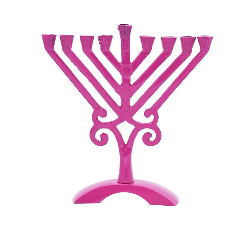 Colored Menorahs