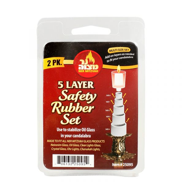 5 Layer Safety Rubber Set - 2 Pk