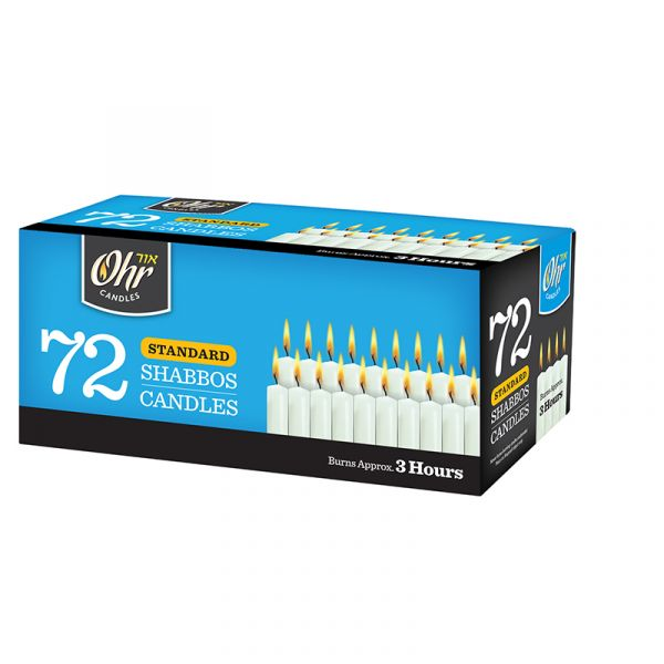 Standard Shabbos Candles 3 Hour - 72 PK