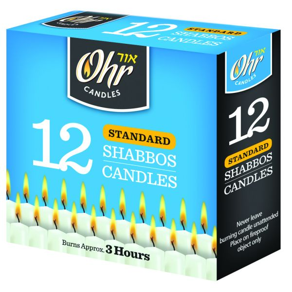 Standard Shabbos Candles 3 Hour - 12 Pk