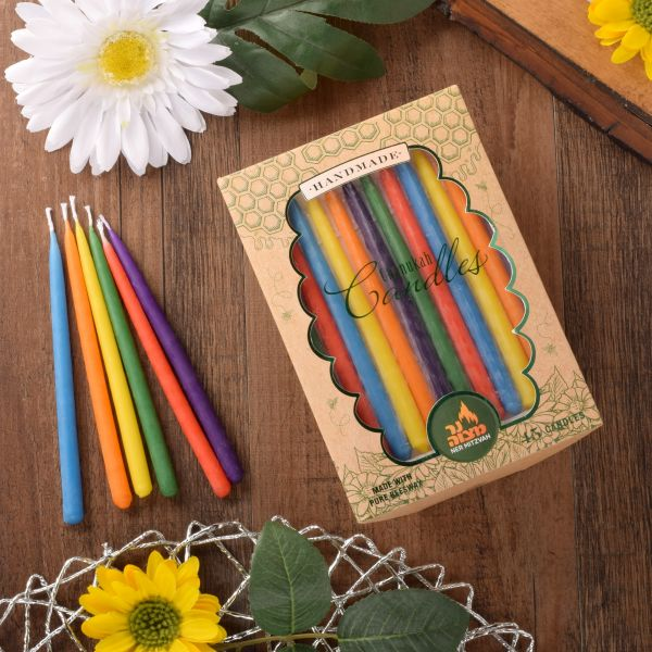 Multi-color Beeswax Candles 45pk.