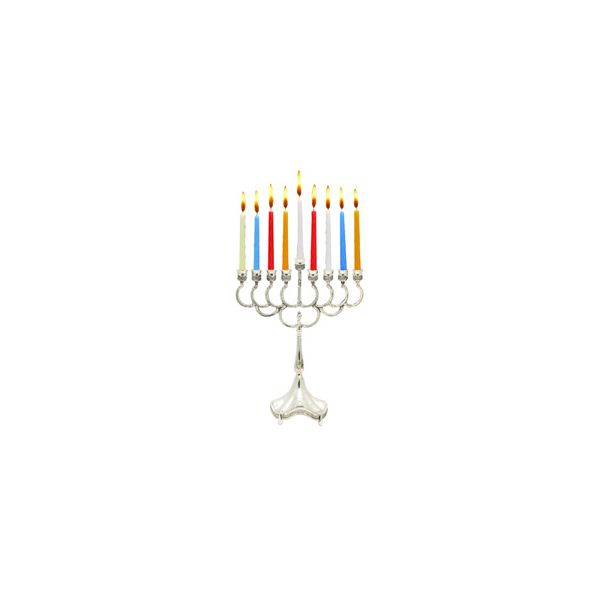 Silver Plated Candle Menorah