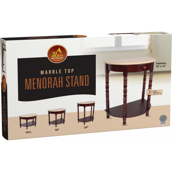 Marble Menorah stand 3 Heights
